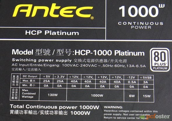 Antec High Current Pro HCP 1000-EC 80 Plus Platinum