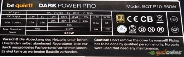 Be Quiet 550W Dark Power PRO P10